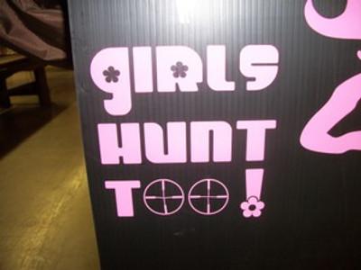 """Girls Hunt Too"" Window Decal"