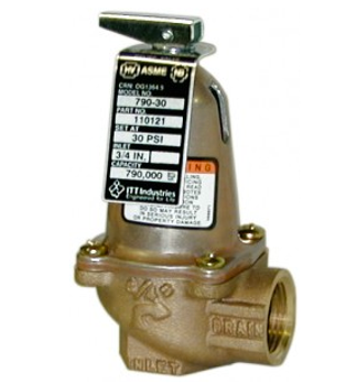 110125 Bell & Gossett 790-75 ASME Safety Relief Valve