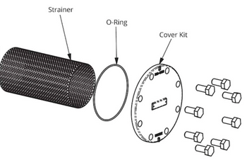 386-2411-5RP Taco Strainer & O-Ring Kit