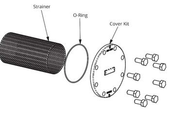 386-2414-5RP Taco Strainer & O-Ring Kit