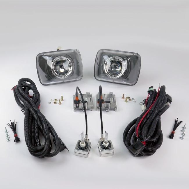 """Starr HID STARR HID XP6054B Bi-Xenon Black Projector Headlights Kit 5x7"""" Rectangular Sealed Beam"""