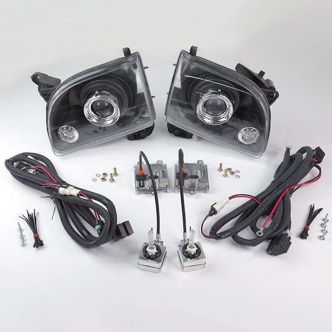 Starr HID XP3018B Bi-Xenon Black Projector Headlights Kit 2001 - 2004 Toyota Tacoma