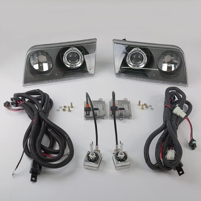 Starr HID XP3017B Bi-Xenon Black Projector Headlights Kit 1998 - 2011 Ford Crown Victoria
