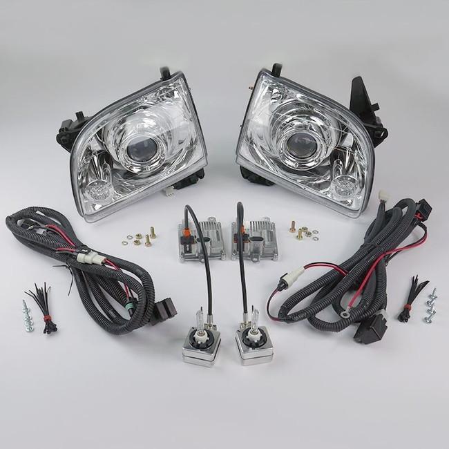 Starr HID XP3018C Bi-Xenon Chrome Projector Headlights Kit 2001 - 2004 Toyota Tacoma