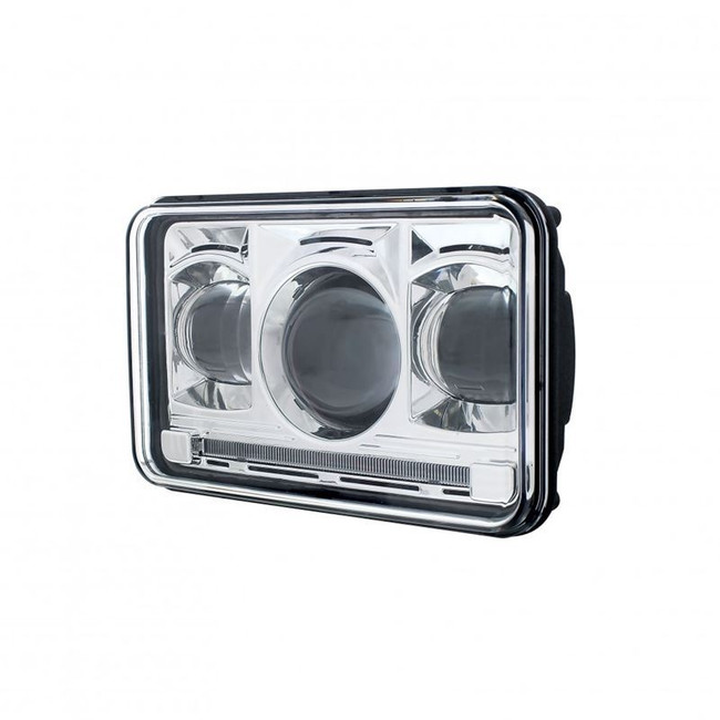 "United Pacific 31274 4x6"" LED Low Beam Projector Headlight with Accent Light Bar"