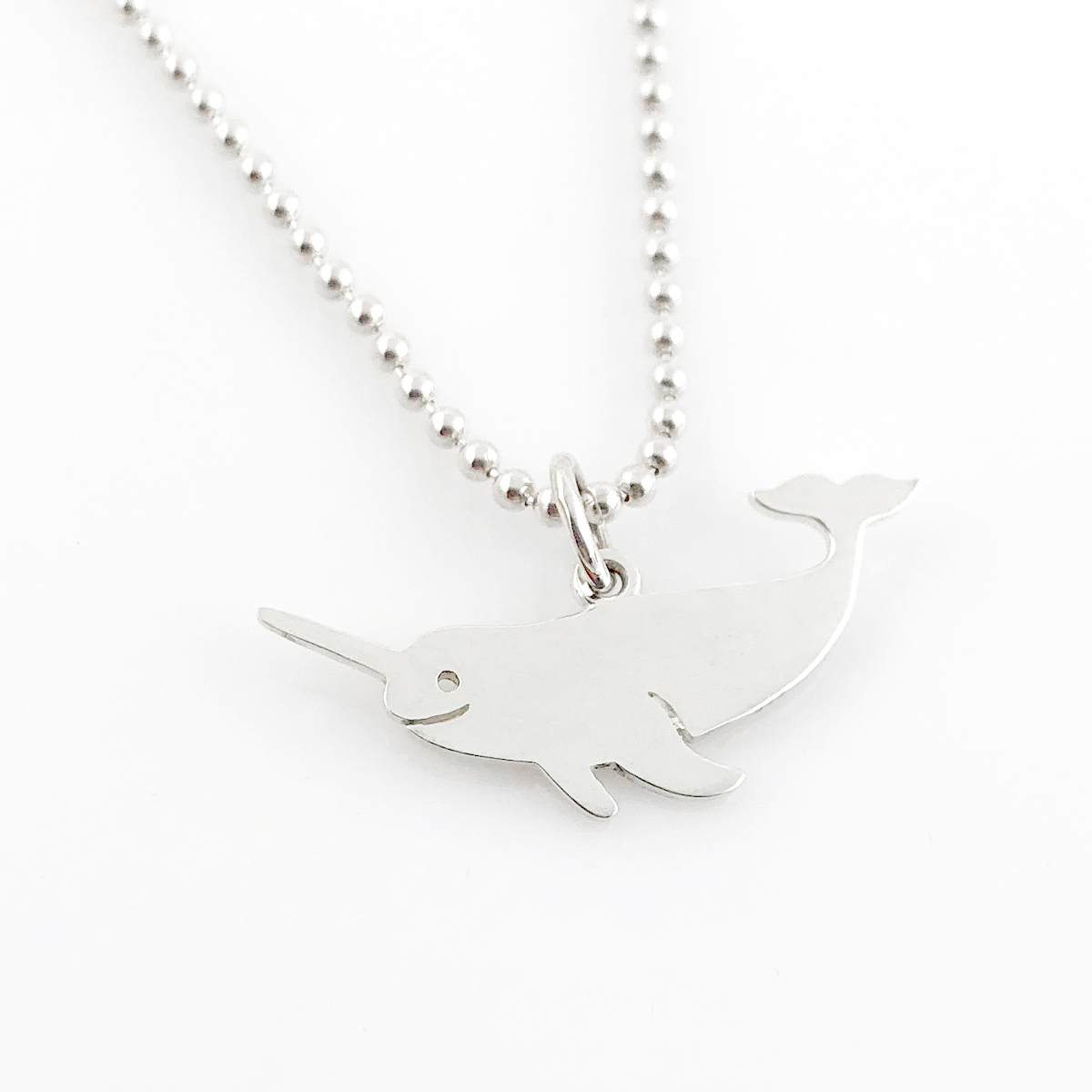 Narwhal Simple Charm Necklace