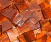 Bulk Discount - Medium Amber Rough Rolled Stained Glass Mosaic Tiles