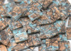 Bulk Discount - Bluegreen Champagne Van Gogh Stained Glass Mosaic Tiles