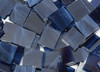 Navy Blue Wispy Stained Glass Mosaic Tiles