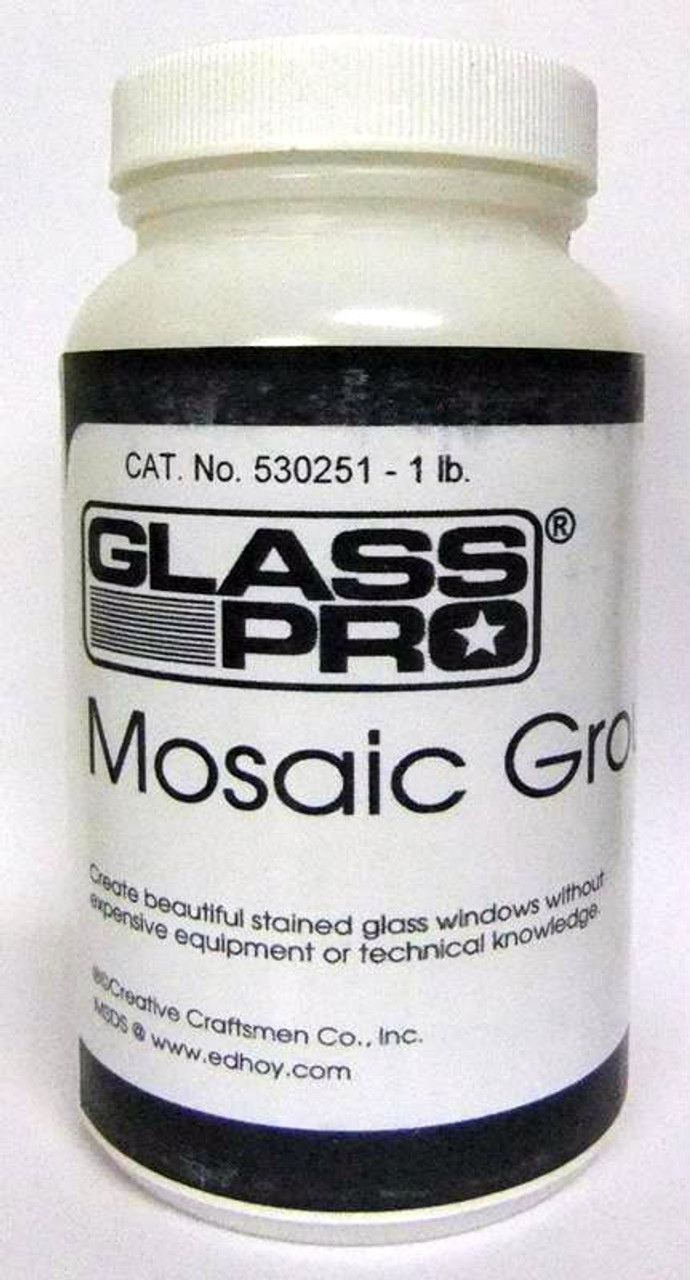 1 lb. Raven Black Glass Pro Stained Glass Mosaic Grout