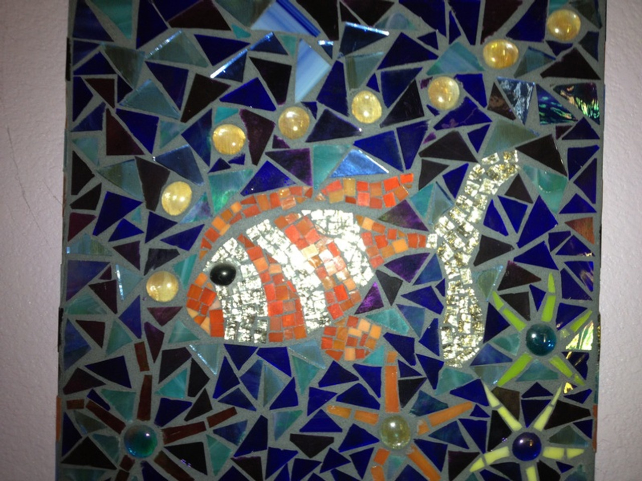 Silver Granite Mirror Stained Glass Mosaic Tiles