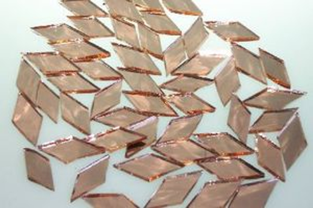 Metallic Blush Waterglass Mirror Stained Glass Mosaic Tiles