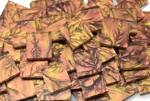 Copper & Gold Van Gogh Stained Glass Mosaic Tiles