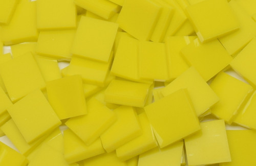 Lemon Yellow Opal System 96 Stained Mosaic Tiles