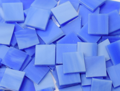 Bulk Discount - Cobalt Blue & White Stained Glass Mosaic Tiles