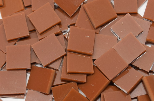 Bulk Discount - Chestnut Brown Opal System 96 Stained Glass Mosaic Tiles