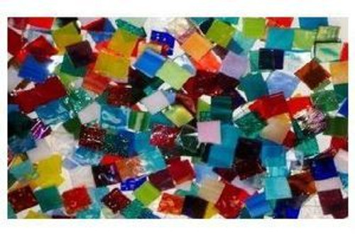 Bulk Discount - Random Mix Stained Glass Mosaic Tiles