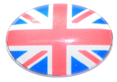 1 British Flag 18x13mm Oval Glass Cabochon