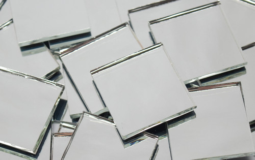 Silver Mirror Waterglass Stained Glass Mosaic Tiles