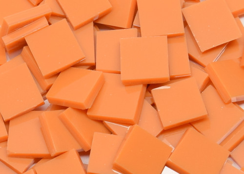 Persimmon / Pumpkin Orange Opal System 96 Stained Glass Mosaic Tiles