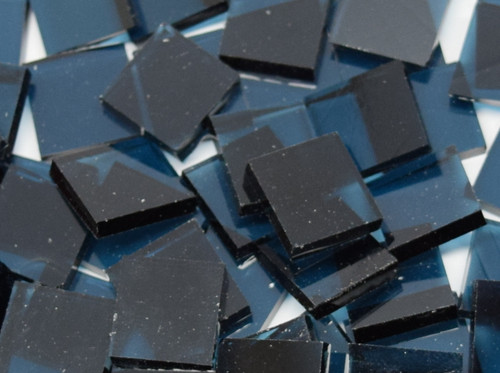 Steel Blue Artique Stained Glass Mosaic Tiles