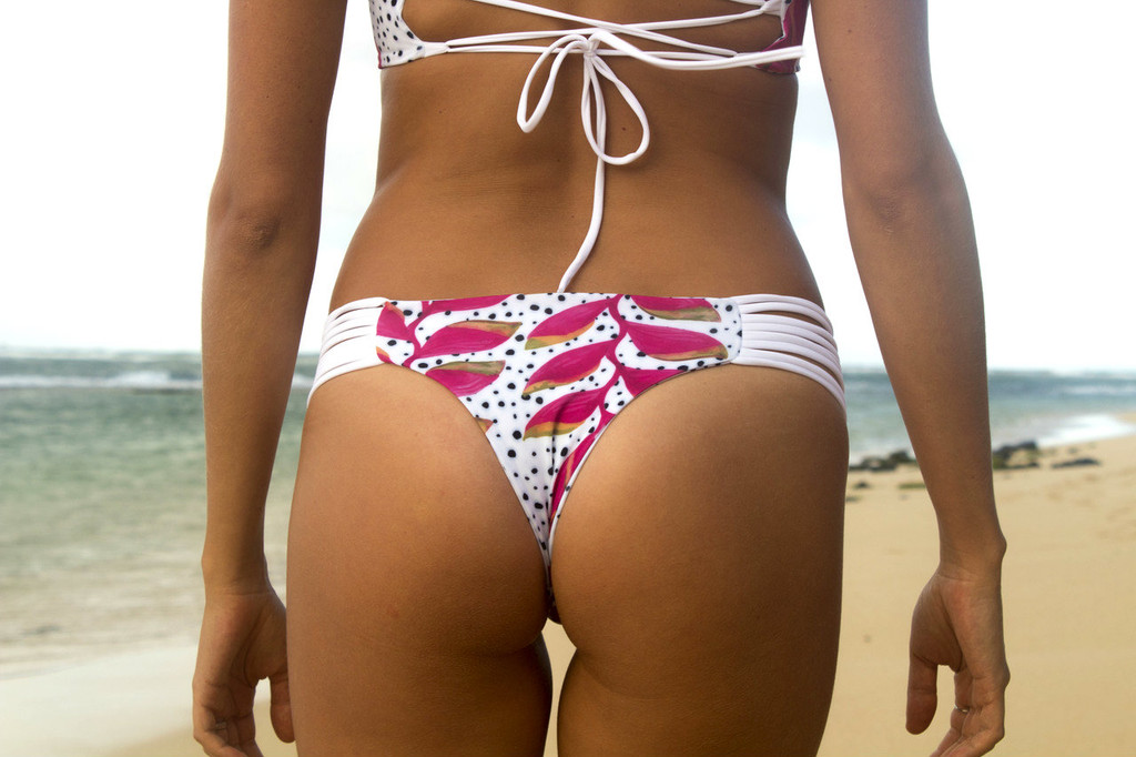 A KAMAOLE Reversible  Bikini Brazilian Bottoms Customize Size & Choose from 50+ Fabrics