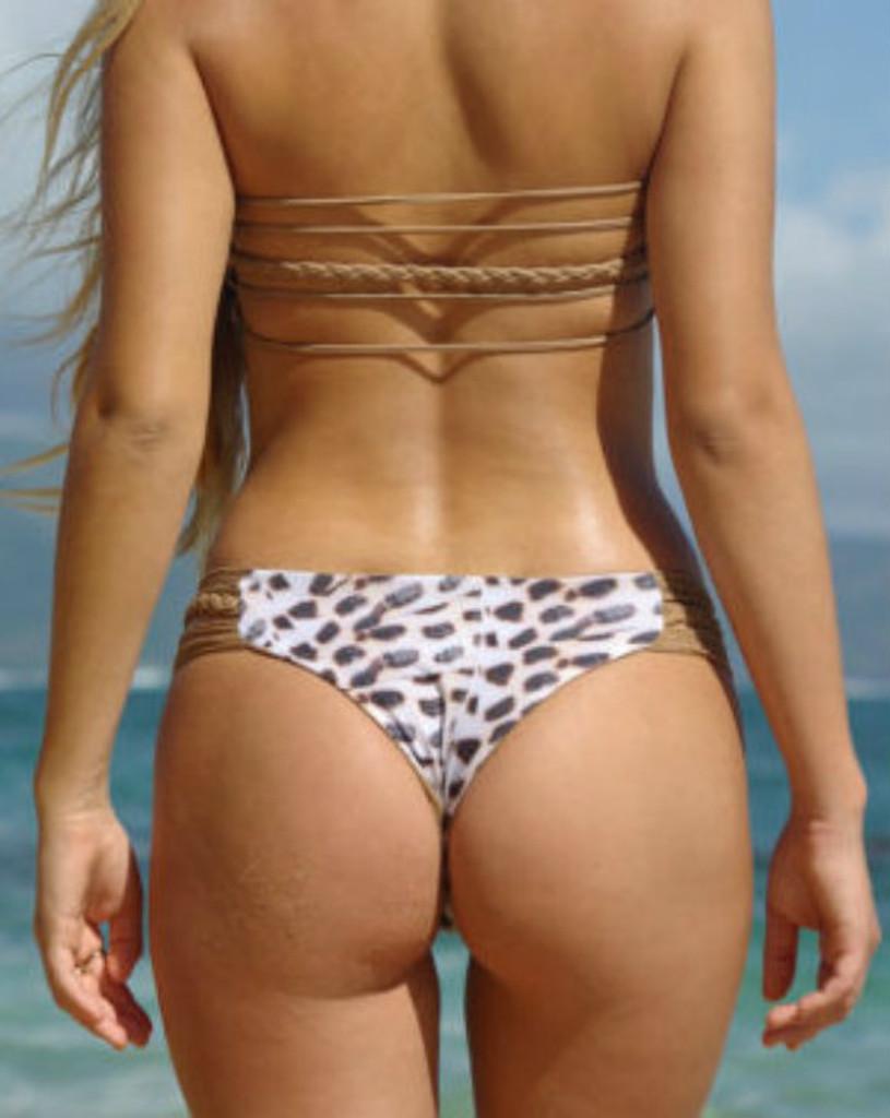 Luluka Style Reversible Strap n Braid Cheeeky Brazilian Bikini Bottoms** Customize Size & Choose from 50+ Fabrics