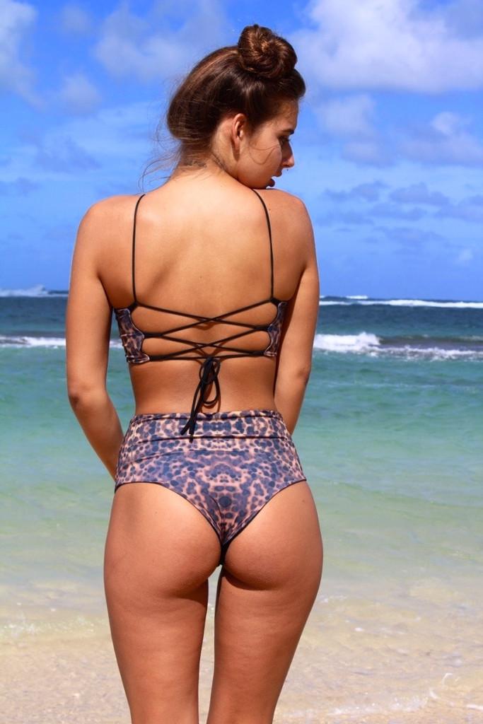 A Samoa Style Reversible MID --High Waisted Swimwear Bikini Bottoms Customize Size & Choose from 50+ Fabrics