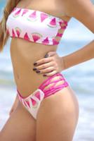 Jaws Reversible Fishnet Brazilian Bikini Bottoms Customize Size & Choose from 50+ Fabrics