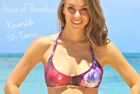 Kaneohe REVERSIBLE Sporty Halter Bikini Top  Customize Size & Choose from 50+ Fabrics