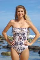 Kiowea Reversible Strapless Side Strap Peek-A-Boo One piece bathing suit Customize Size & Choose from 50+ Fabrics
