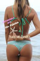 A Lani Kai Reversible Cheeky Brazilian Bikini Bottoms  Choose from 50+ Fabrics3
