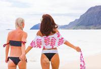 A Luna Ruffle Bandeau Bikini Top