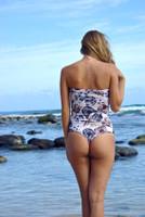 Kiowea Reversible Strapless Side Strap Peek-A-Boo 1 piece bathing suit Customize Size & Choose from 50+ Fabrics