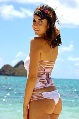 KOKO REVERSIBLE Tankini Bathing Suit Knotted Bikini Top Customize Size & Choose from 50+ Fabrics