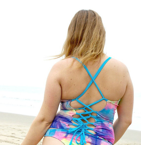 Monterey Reversible Corset  Lace Up Bikini Top  Only Customize Size & Choose from 50+ Fabrics2