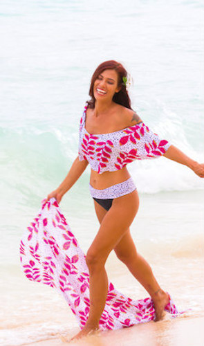A Luna Ruffle Bandeau Bikini Top Facebook