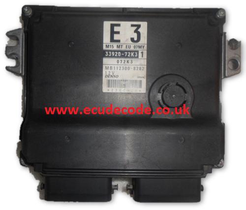 For Sale With Service  33920-72K3  MB112300-8282 Suzuki Petrol Engine ECU  Plug & Play