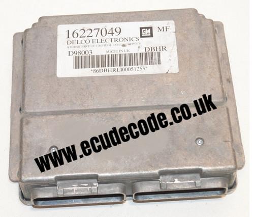 For Sale With Service  16227049  D98003  DBHR  Vauxhall Petrol ECU  Plug & Play