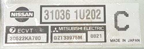 For Sale  31036 1U202 ECVT 30522KA780 GT33975M 8821 C Transmission ECU