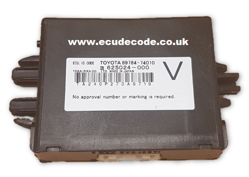 For Sale With Service 89784-74010, 625024-000, TOYOTA iQ , IMMOBILISER ID CODE MODULE Plug & Play