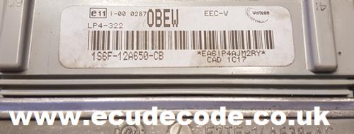 Service 1S6F-12A650-CB  E9AF14A624AAOBEW  LP4-322  EEC-V ECU Cloning - Key Production Plug & Play
