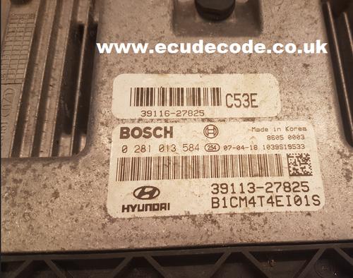 Service 0281013584 - 0 281 013 584 - 39113-27825 - Hyundai Sante FE 2.2 CRDi  Clone / Free Run Plug & Play