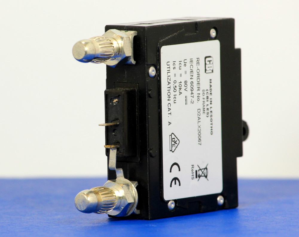 D2ALX20067 (1 Pole, 3A, 80VDC, Plug-In Terminals, Series Mid-Trip w/alarm, UL Listed (UL 489))