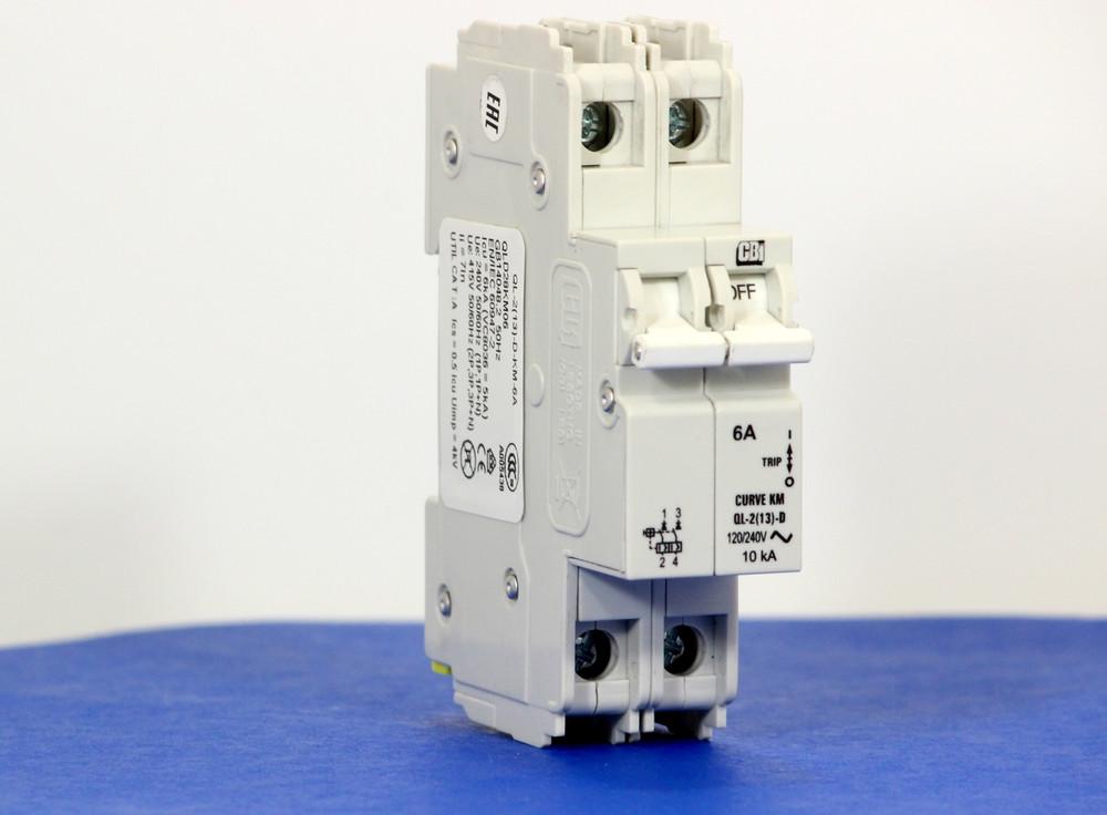 QLD28KM06 (2 Pole, 6A, 120/240VAC; 240VAC, UL Listed (UL 489))