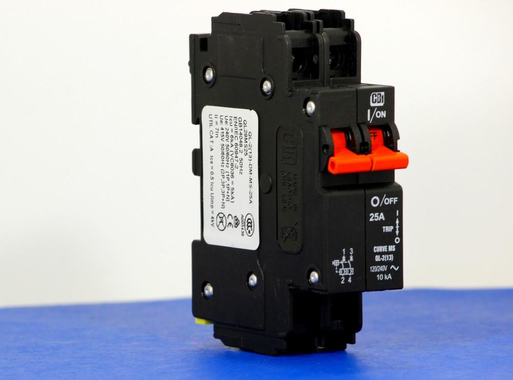 QL29MS25 (2 Pole, 25A, 120/240VAC; 240VAC, UL Listed (UL 489))