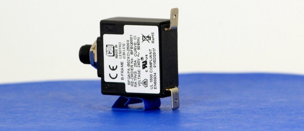 BFBQ0001 (1 Pole, 25A, 240VAC, Quick Connect, Series Trip, UL Recognized (UL 1077))