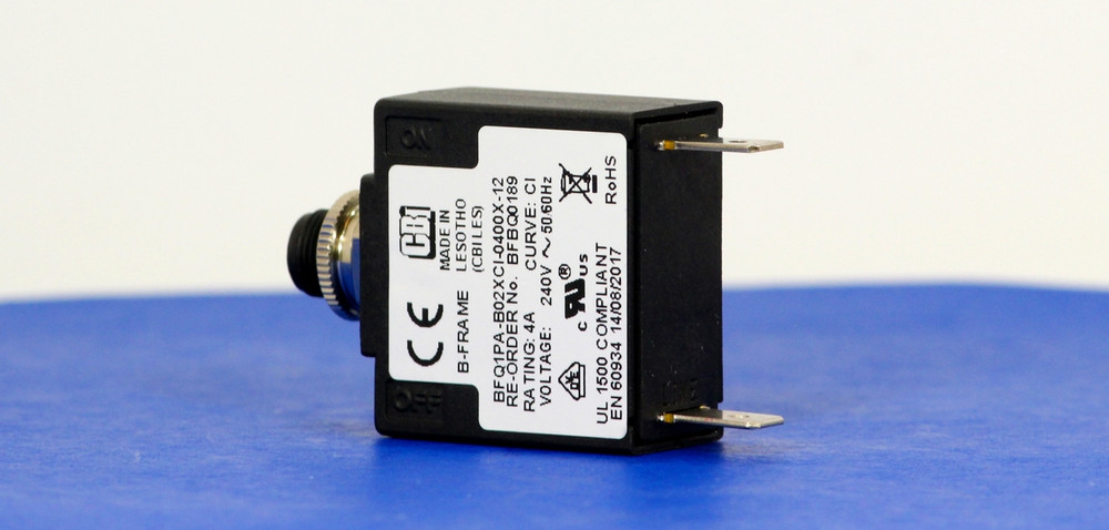 BFBQ0189 (1 Pole, 4A, 240VAC, Quick Connect, Series Trip, UL Recognized (UL 1077))