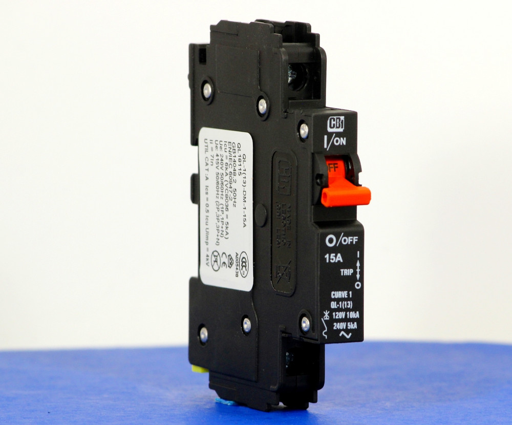 QL18115 (1 Pole, 15A, 120VAC; 240VAC, UL Listed (UL 489))