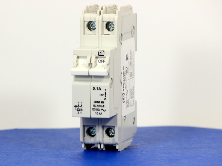 QLD29KM0.1 (2 Pole, 0.1A, 120/240VAC; 240VAC, UL Listed (UL 489))